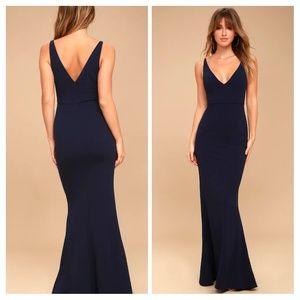 Lulus Melora Navy Blue Maxi Dress